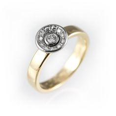 Unique engagement ring unique halo engagement ring by KorusDesign