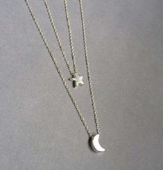 Moon and Star Necklace Moon Star Necklace by Instyleglamour