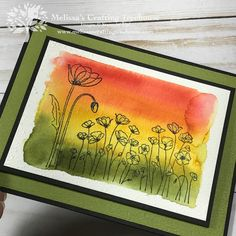 In today's post, I'll be featuring a sneak peek of this month's tutorial bundle featuring three simple Peaceful Poppies card ideas. There's even a fun fold! Wedding Shower Cards, Watercolor Birthday Cards, Poppy Cards, Butterfly Template, Paint Cards, Stamping Up Cards, Some Cards, Flower Cards, Making Ideas