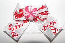 peppermint candy dog bow