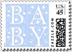 Stamps for baby announcements, baby shower invitations. A fun and subtle way to surprise your family and friends.