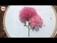 Hand Embroidery for Beginners - Part 2 Hand Embroidery Videos, Hand Embroidery Tutorial, Embroidery Flowers Pattern, Hand Embroidery Stitches, Silk Ribbon Embroidery, Embroidery For Beginners, Embroidery Hoop Art, Hand Embroidery Designs, Flower Patterns