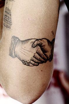 Handshake Tattoo