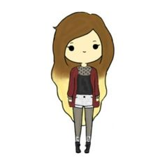 Chibis ❤ liked on Polyvore featuring fillers, chibis, drawings, anime, doodles and scribble