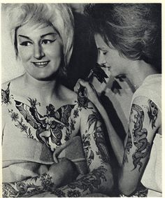 "Bev Robinson (aka: Cindy Ray) the last famous ""Tattooed Lady""."