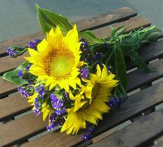 simple sunflower bouquet Sunflower Bouquets, Simple, Plants, Plant, Planets