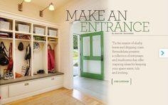 mudroom - green door!!!