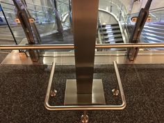Inexpensive & highly effective stainless steel floor-mounted bumper rails and bollards to prevent damage to walls, cases and fixtures. Safety, Meet, Stainless Steel, Mirror, Store, Design, Products, Security Guard, Mirrors
