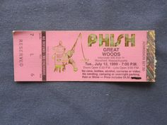 Phish, Great Woods in Mansfield, Mass, 7/13/1999, 17.50