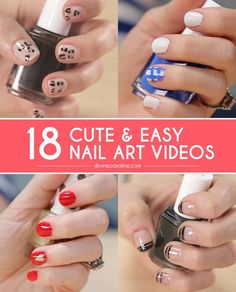 We've compiled some of our favorite nail art videos to help you turn your nails into works of art. All you'll need are basic supplies like polish, dotting brushes, and tape.