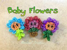 Rainbow Loom Baby Flower Pot ( loom bands ) Plants