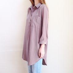 taupe oversized shirt offers welcome size extra large taupe oversized shirt with button up bust. true color varies slightly from photos. •890053• Forever 21 Tops Button Down Shirts