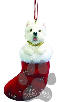 Santa's Little Pals West Highland Terrier Christmas Ornament