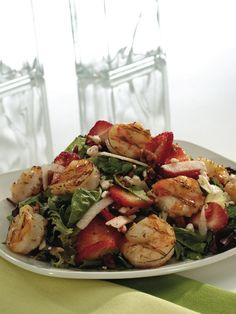 Firebirds' recipe for their Strawberry Shrimp Salad, my absolute favorite!