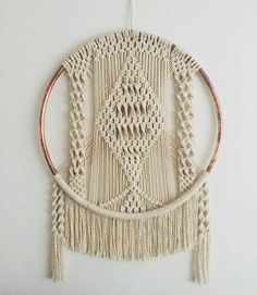 Macrame Copper Hoop Hanging by BOTANICAhome on Etsy