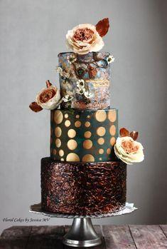 VINTAGE MIXED MEDIA JOURNAL WEDDING CAKE - Cake by Jessica MV