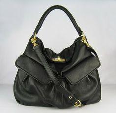 Miu Miu Soft Leather Shoulder Bag Black 1813