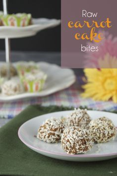 Raw Carrot Cake Bites #PlaidandPaleo
