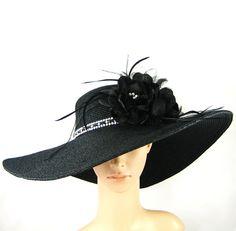 Derby Hat Kentucky Derby Black Hat  via Etsy.