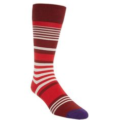 Men's Paul Smith Stripe Socks (94 BRL) ❤ liked on Polyvore featuring men's fashion, men's clothing, men's socks, red, mens red socks, mens socks, mens crew socks, mens striped socks and paul smith mens socks