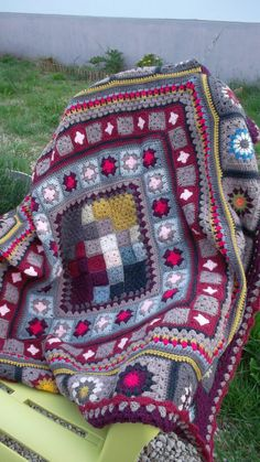 Etsy - Shop for handmade, vintage, custom, and unique gifts for everyone Mandala Au Crochet, Manta Crochet, Plaid Crochet, Knit Crochet, Crochet Stitches For Blankets, Granny Square Afghan, Blanket Stitch, Amish, Impressionist