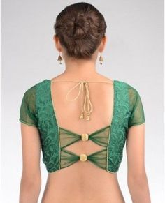 fancy saree blouse designs - Google Search
