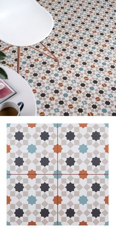Use these geometric, porcelain tiles to create a vibrant feature area in your home. Trellis Casablanca tiles are have a colourful arabesque style design, remeniscent of a kaleidoskope;  making a great statement floor or wall in your chosen room. These tiles are pre-score tile and have an anti-slip surface. As part of our Trellis Tile collection, they have a soft matt finish and are suitable for all areas throughout your home - whether you're tiling the kitchen, living room, en suite or…