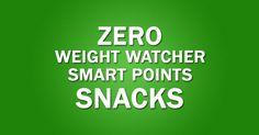 Zero-One Weight Watchers SmartPoints Snacks List