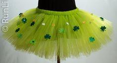St. Patrick's Day Tutu Shamrock Tutu Green by RunLikeADivaGirl