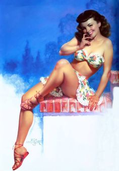 Image gallery for the vintage pinup art of Zoë Mozert Pinup Art, Pin Up Girls, Pin Up Illustration, Earl Moran, Online Gallery, Trading Cards, Lady, Wonder Woman, Glamour