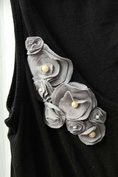 Embellish with fabric flowers.