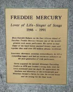 Grave Marker- Freddie Mercury
