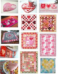 FREE PATTERN Archive hearts and valentines quilts