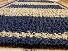 Crochet jute rug Handmade Patio Large Doormat by MagicByCrochet