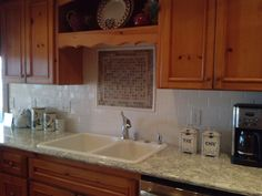 A recent HATLOE'S installation: BEAUTIFUL Cambria Quartz Countertop in Berwyn with subway tile.