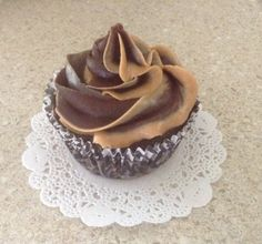 Vegan Chocolate Cupcake with Fudge Chocolate & Peanut Butter Frosting