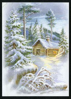 Hytte i skogen