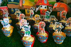 Free printables---Paw Patrol cupcake tutorial step by step videos included