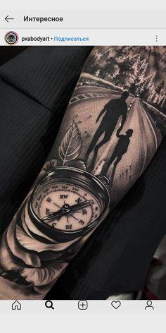 Compass - Tattoo ideen - ideen kompass - Compass – Tattoo ideen – ideen kompass You are in the right pla - Hand Tattoos, A Tattoo, Father Tattoos, Tattoos Arm Mann, Forarm Tattoos, Forearm Sleeve Tattoos, Best Sleeve Tattoos, Family Tattoos, Tattoo Sleeve Designs