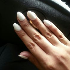 Almond shaped nails.