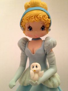 Princess Inspired Cold Porcelain Cinderella  Cake Topper or Decoration
