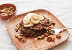 nutty banana bread pancakes