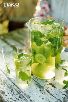 As summer cocktails go, sangria is a classic. This refreshing green version is packed with lime, mint & basil for a hard-to-resist al fresco tipple. | Tesco