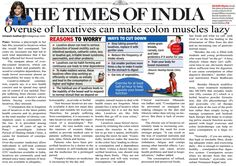 #Article on Overuse of #Laxatives can make #colonmuscles lazy by #DrAshwinPorwal published in #TimesOfIndia