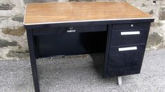 The tanker desk is a Mid-century Modern American classic that is not often reproduced current day.
