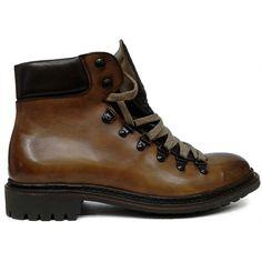 8384 zapato botín liso de cordones en color cuero difuminado de Cordwainer   Calzados Garrido