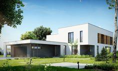 DOM.PL™ - Projekt domu PPE NOWOCZESNY D10 - DOM EG1-09 - gotowy projekt domu