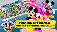 FIND THE DIFFERENCES - HOW GOOD ARE YOUR EYES?    MICKEY & FRIENDS PUZZL... Animated Cartoons, Cool Cartoons, Cartoon Fun, Disney Villains, Disney Movies, Disney Characters, Emoji Quiz, Funny Riddles, The Odd Ones Out