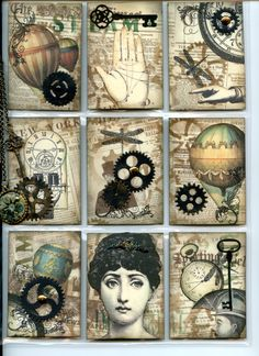 Steampunk style Pocket Letter sent by me to Ellen (Front)