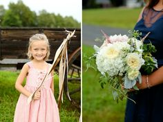 Bridesmaids Bouquet by Anthomanic Flower Girl Jordan & Lauren | Riddick House at Stevenson Ridge Wedding » Carley Rehberg Photography